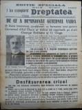 Ziarul Dreptatea , 14 Nov. 1933 , numar special ; Demisia guvernului Vaida