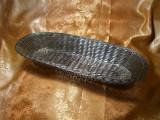 Cos paine placat argint, stil Tiffany, colectie, cadou, vintage