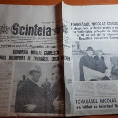 ziarul scanteia 7 octombrie 1989-vizita lui ceausescu la berlin