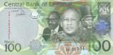 Bancnota Lesotho 100 Maloti 2013 - P24b UNC