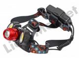 Lanterna de cap cu led puternic senzor si acumulatori inclusi