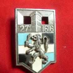 Insigna Militara -Regimentul Infanterie 1616 Romainville ,h=4cm,autor Y.Delsart