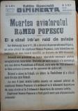 Ziarul Dimineata , 9 Dec. 1931 , Moartea aviatorului Romeo Popescu , aviatie