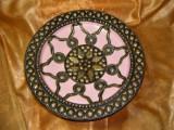 Platou fructiera exotica Tuareg Berber, alama placata argint, colectie