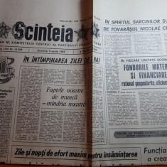 ziarul scanteia 9 aprilie 1989