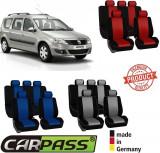 Huse Scaune Dedicate Dacia Logan Break Mcv 2005-2011 Premium (Rosu/Albastru/Gri)