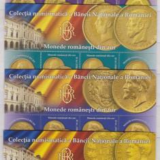 DB Romania 2013 Monede din Aur BNR straif superior MNH