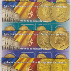 DB Romania 2013 Monede din Aur BNR straif superior MNH, Nestampilat