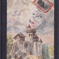 EXPOZITIA NATIONALA 1906  BUCURESTI  CASTELUL TEPES  CIRCULATA 1907  TCV  SOCEC