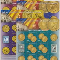 DB Romania 2013 Monede din Aur BNR minicoli de 6 MNH, Nestampilat