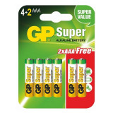 Baterii SuperAlcaline (Tip AAA) - Set 6 Bucati (LR03)