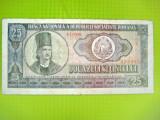 Bancnota 25 lei 1966 circulata. Stare mai uzata.