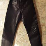 Pantaloni piele naturala originali Cowhide, Negru