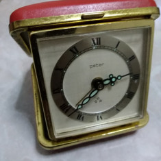 Ceas vintage de voiaj Peter  mecanic Germany