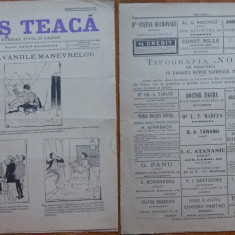 Ziarul Mos Teaca , jurnal tivil si cazon , nr. 28 , an 1 , 1895 , Bacalbasa