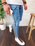 Blugi pentru barbati online - conici albastri - LICHIDARE DE STOC - A3021 H6-4