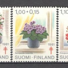 Finlanda.1981 Campanie impotriva tuberculozei-Flori  KF.329