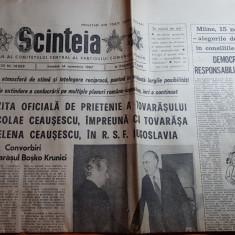ziarul scanteia 14 noiembrie 1987-vizita lui ceausescu in iugoslavia
