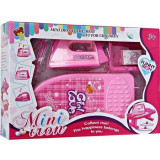 Fier de calcat pentru copii, set de joaca, 6 piese, roz