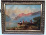 Tablou Bidermeier secolul al XIX lea, Peisaje, Ulei, Altul