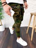 Pantaloni pentru barbati de army, camuflaj, premium - de trening - A3024 H4-3, Din imagine