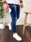 Blugi pentru barbati online  - conici albastri - LICHIDARE DE STOC - A2545 D6-4
