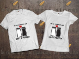 Tricou TOGETHER LIKE, L, M, S, XL, XXL, Alb, Negru, Bumbac