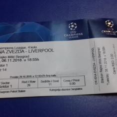 Bilet    Steaua  R.  Belgrad   -  Liverpool