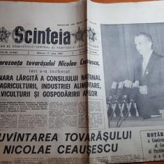 ziarul scanteia 17 iunie 1987- cuvantarea lui ceausescu la plenara