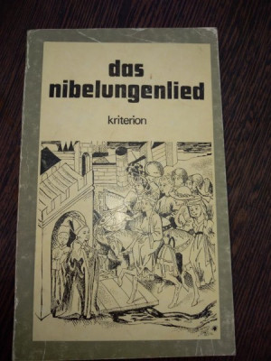 Nibelungenlied . Cantecul Nibelungilor. carte in lb germana foto