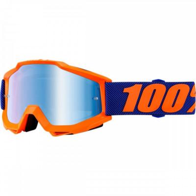 Ochelari ATV/cross 100% Accuri Origami, sticla albastra Cod Produs: MX_NEW 26012404PE foto