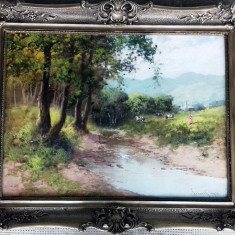 Tablou Pastoriata Neogrady Laszlo, Peisaje, Ulei, Impresionism