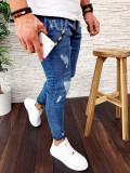Blugi pentru barbati online  - conici albastri - LICHIDARE DE STOC - A2538 H1-5