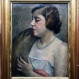 Tablou portret de dama Gall Ferenc, Portrete, Ulei, Impresionism