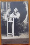 Foto pe carton ; Bucovina , Campulung , inceput de secol 20 , costum popular , 3