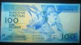 Portugalia : 100 escudos  1987 , UNC ( bancnota necirculata )
