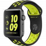Watch 2 Nike+ Aluminiu Gri 42MM Si Curea Silicon Negru Verde, Apple