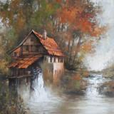 Tablou picturå - peisaj, Peisaje, Ulei, Miniatural