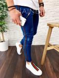 Blugi pentru barbati online - conici albastri - LICHIDARE DE STOC - A3018 F3-2