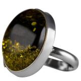 Inel dama argint 925 cu chihlimbar Amber Crystals