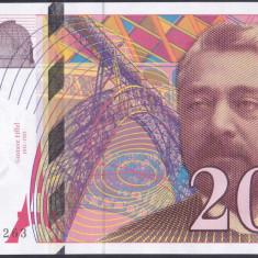 Bancnota Franta 20 Franci 1999 - P159c UNC