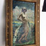 Tablou Nud impresionist Mark Lajos, Ulei, Impresionism