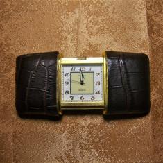 Ceas voiaj bronz, stil Cartier, colectie, cadou, vintage