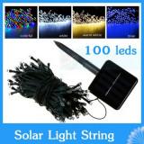 Instalatie  Solara Craciun 15 metri 100 LED multicolor alb cald rece albastru