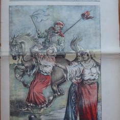 Ziarul Universul Literar , nr. 21 , 1912 , Rapirea Basarabiei , cromolitografie