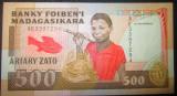 Madagascar : 500 franci ND (1993 ) . UNC ( bancnota necirculata )