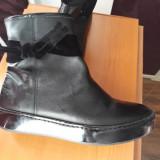 Vand cizme scurte negre imblanite, 38, Negru, 4F