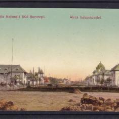 EXPOZITIA  NATIONALA 1906  BUCURESTI  ALEEA  INDEPENDENTEI  UPU