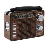 Radio portabil vintage, 3 benzi, MP3 player, Jack 3.5mm, USB, SD, Waxiba