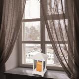 Felinar lumanare cu LED alb cald, lumina intermitenta, alimentare baterii